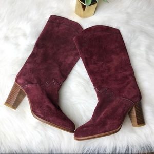 Joan & David Suede Western Cowgirl Boots